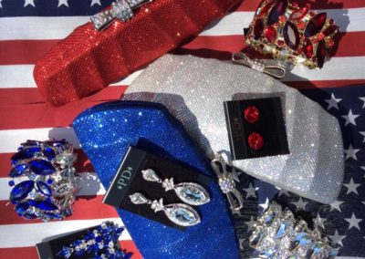 Red white and blue bling